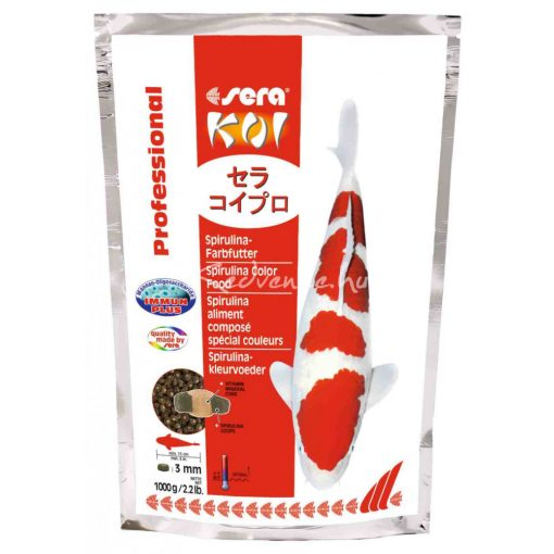 Sera Koi Professional Spirulina Színezőtáp 3mm 1000g