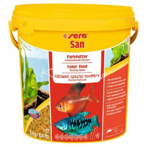 Sera San Nature Színfokozó Díszhal eledel 10 Liter (2kg)