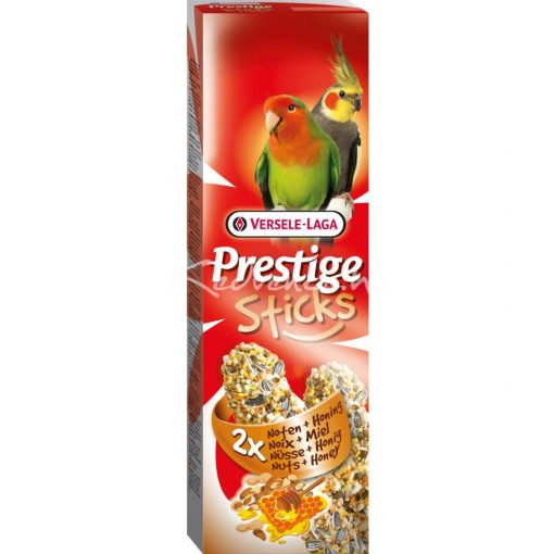 Prestige Sticks Big Parakeets Nuts & Honey - 2 db magrúd papagájnak 140 g