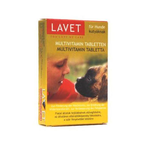 Lavet Multivitamin Tabletta 50db Kutya Táplálékkiegészítő