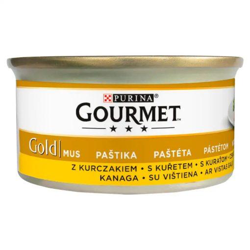 GOURMET GOLD Csirkével pástétom nedves macskaeledel 85g
