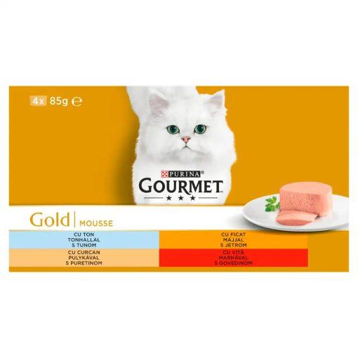 GOURMET GOLD Pástétom nedves macskaeledel 4x85g