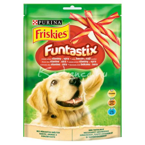 Friskies Funtastix Ízletes bacon és sajt ízesítésű kutya jutalomfalat 175g