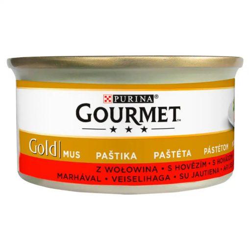 GOURMET GOLD Marhával pástétom nedves macskaeledel 85g