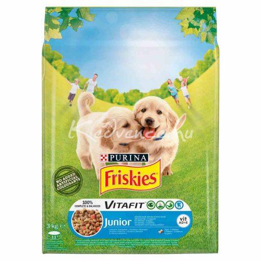 Friskies Junior Csirkével, zöldségekkel és tejjel száraz kutyaeledel 3kg