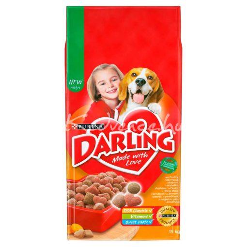 DARLING Szárnyassal és hozzáadott, válogatott zöldségekkel száraz kutyaeledel 15kg