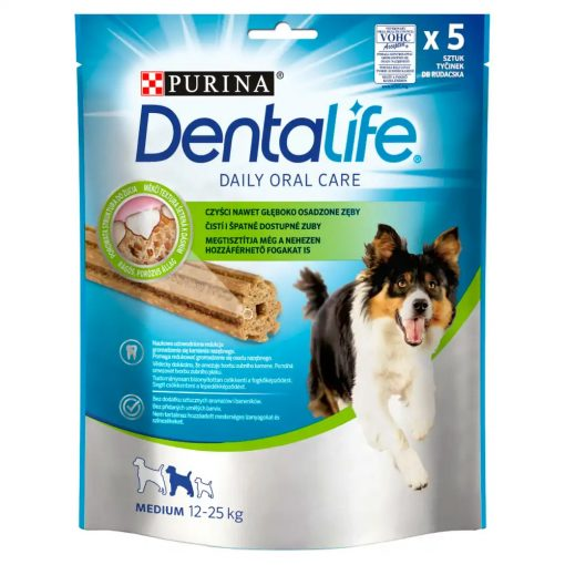 DENTALIFE Medium kutya jutalomfalat 5db/115g