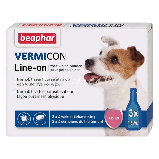Beaphar Vermicon Spot-On S(-15Kg) Kutyáknak 3 pipetta