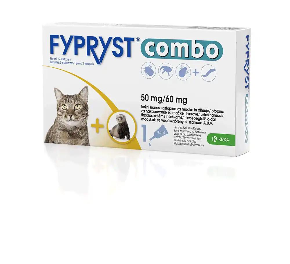 Fypryst Combo Spot-On Macska és Vadászgörény - Bolha, Kullancs és Atka Írtó Csepp