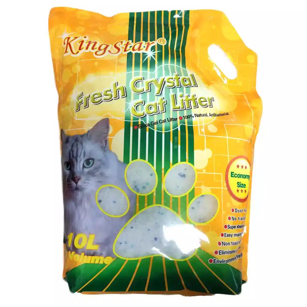 KingStar Lótuszvirág Szilika Gél Macska Alom 10 Liter